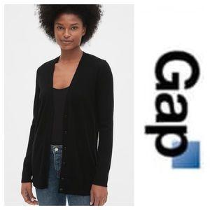 Black knit cardigan by Gap. Size Medium